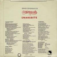 DAVID COVERDALE'S WHITESNAKE Snakebite EP Vinyl Record 7 Inch Sunburst 1978 White Vinyl